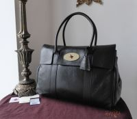 Mulberry Classic Heritage Bayswater in Black Soft Spongy Leather with Gold  Hardware a64a670cb0ae3