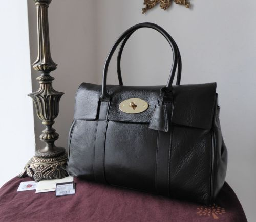 Mulberry Classic Heritage Bayswater in Black Soft Spongy Leather