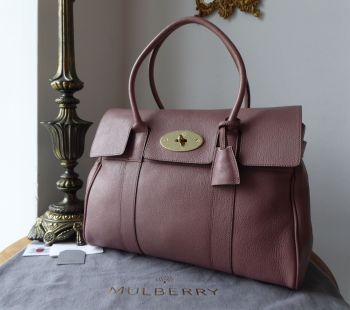 Mulberry Classic Heritage Bayswater in Dark Blush Glossy Goat - SOLD