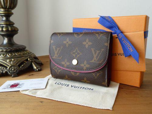 Louis Vuitton Ariane Compact Purse Wallet in Monogram Fuchsia