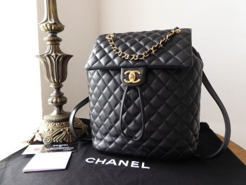 Chanel Urban Spirit Backpack in Black Quilted Calfskin with Gold Hardware - SOLD