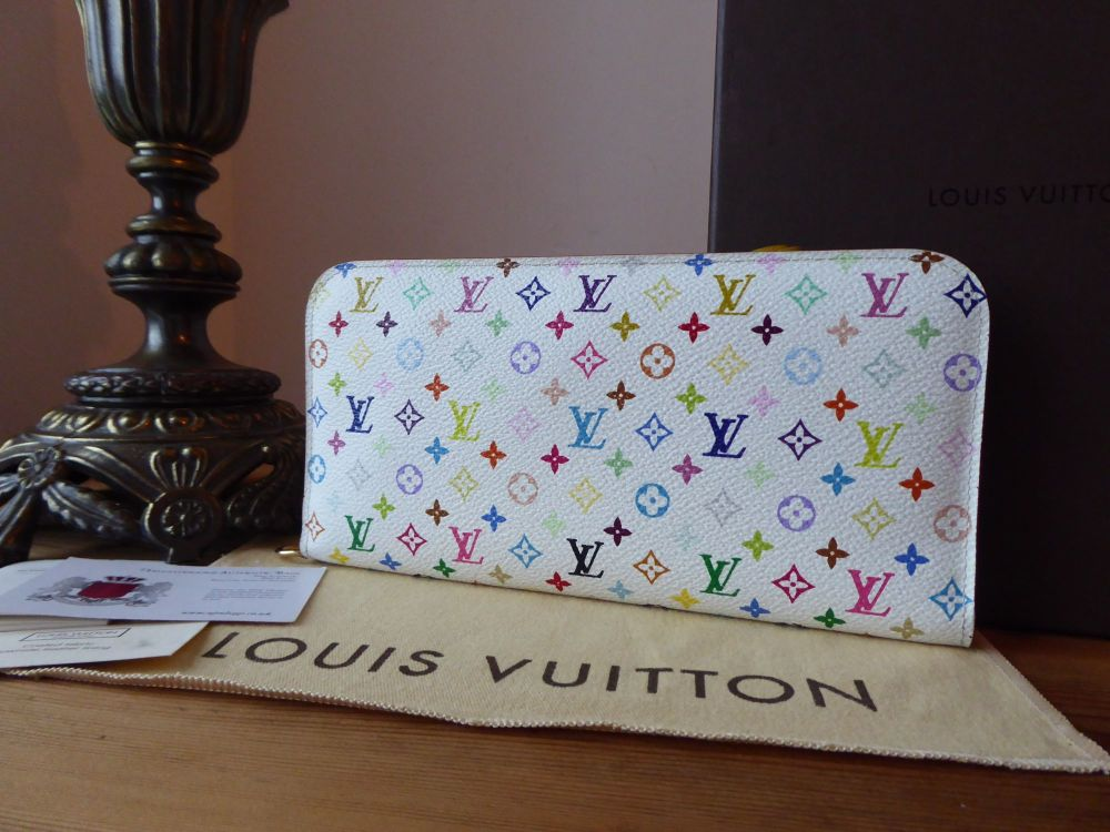 Louis Vuitton Insolite Wallet Clutch in Multicolore Blanc & Citron Yello