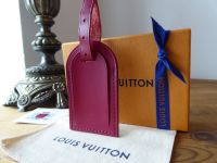 Louis Vuitton Luggage Tag in Fuschia Smooth Calfskin Leather