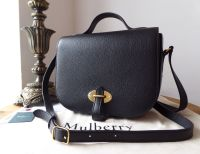 Mulberry Tenby in Black Goat Textured Calf Leather - New