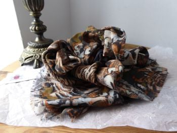 Mulberry Feathered Friends Large Wrap in Pumpkin Modal Silk Mix - SOLD
