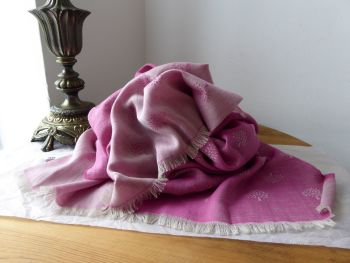 Mulberry Tamara Scarf in Mulberry Pink Superfine Cotton - SOLD