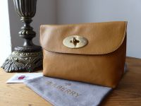 Mulberry Postmans Locked Cosmetic Pouch in Fudge Glossy Buffalo Leather