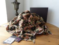 Mulberry Clover Camo Printed Wrap in Summer Khaki Bamboo Soya Mix