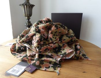 Mulberry Clover Camo Printed Wrap in Summer Khaki Bamboo Soya Mix - SOLD