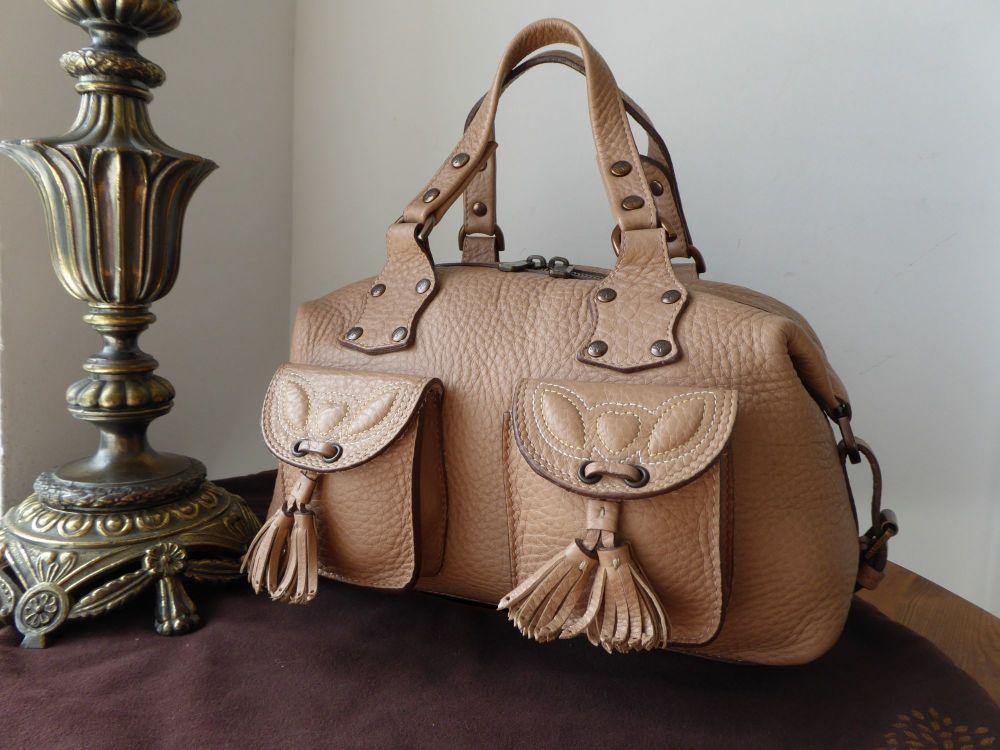 Mulberry Selma Tassle Boston in Nude Grainy Glove Leather