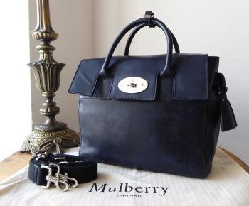 8d2089b344b Mulberry Cara Delevingne Medium Backpack in Midnight Blue Camo Printed Goat  - SOLD