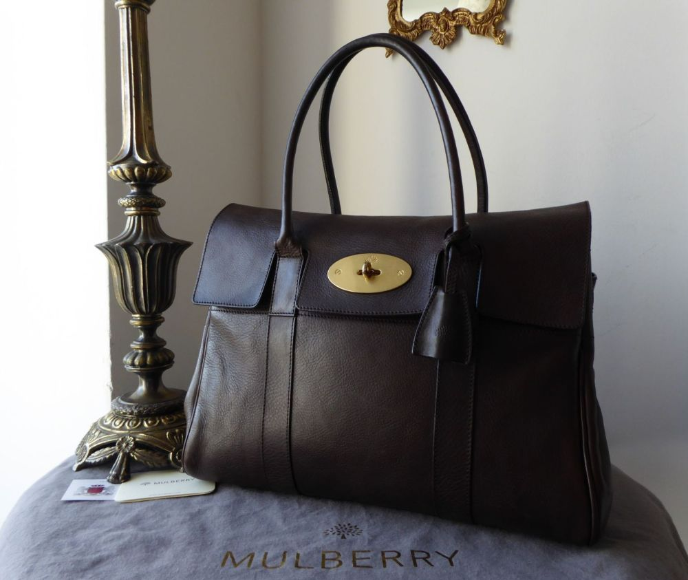 Mulberry Classic Heritage Bayswater in Chocolate Natural Leather