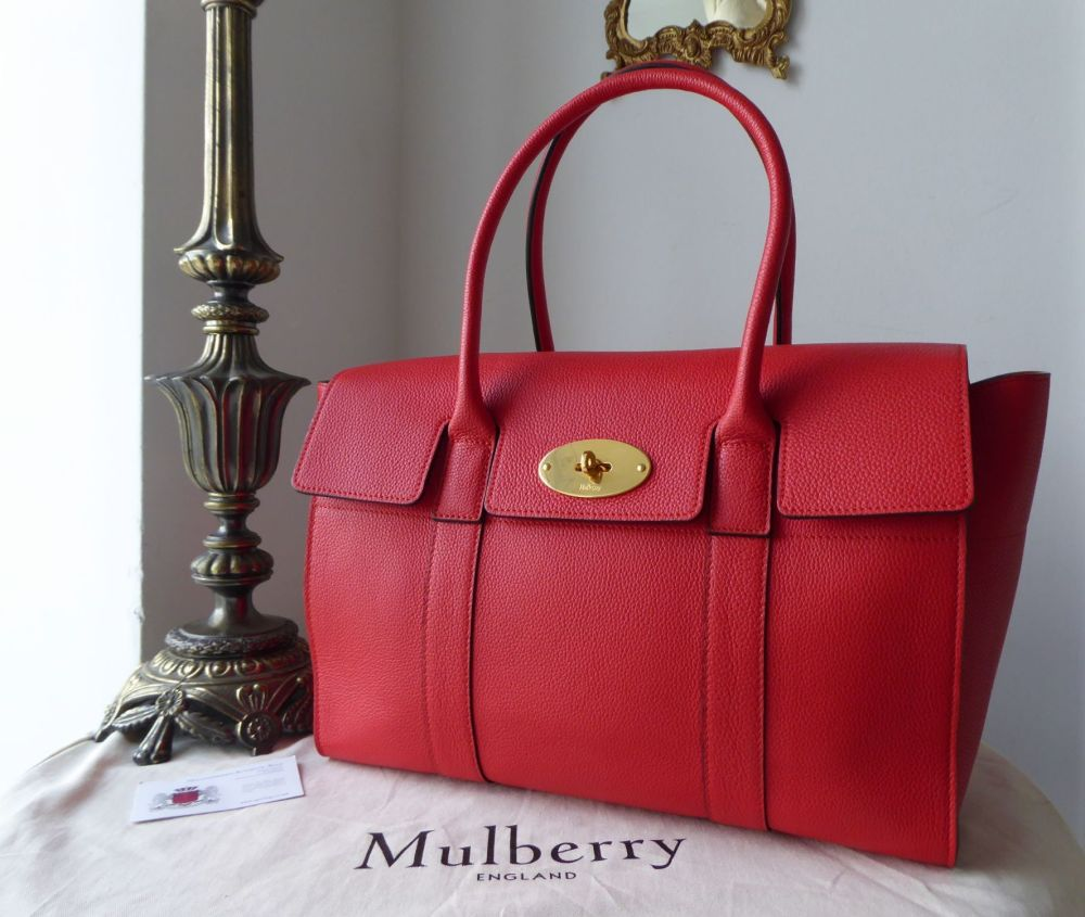 Mulberry Bayswater in Fiery Red Small Classic Grain Leather