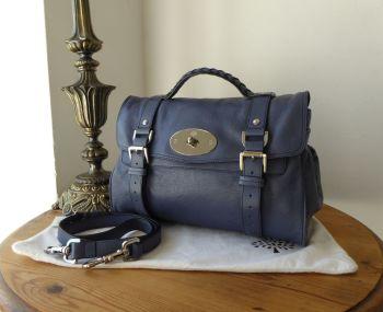 Mulberry Regular Alexa Satchel in Slate Blue Soft Buffalo Leather (Substandard)