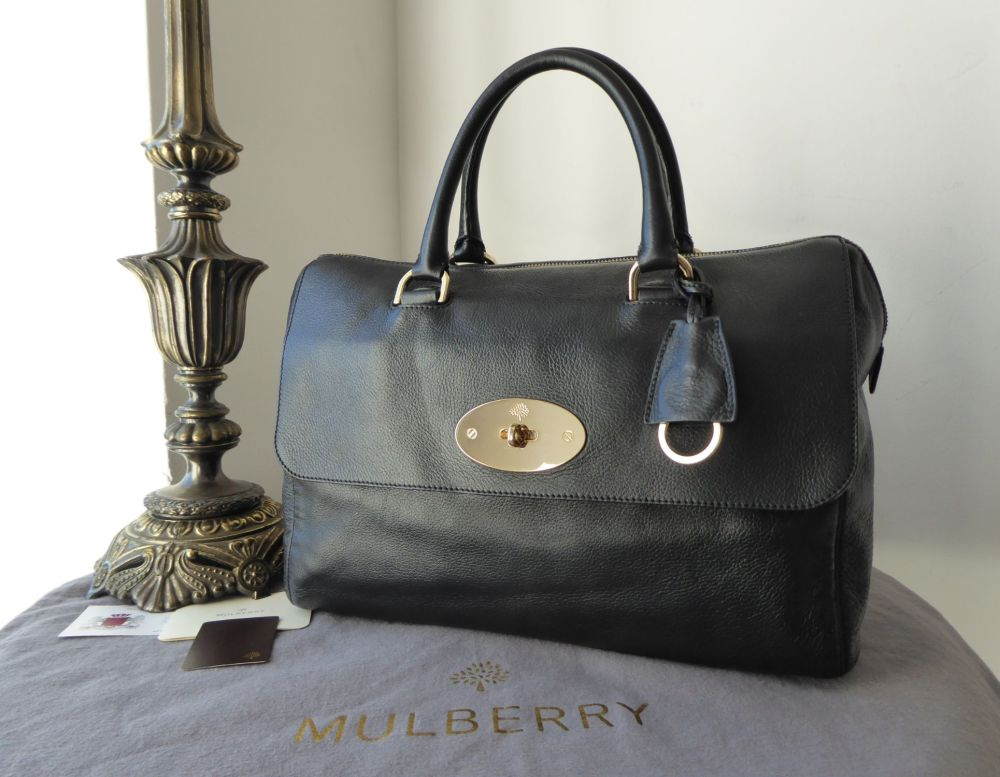 eec0eb3822 Mulberry Del Rey in Black Soft Spongy Leather with Gold Hardware