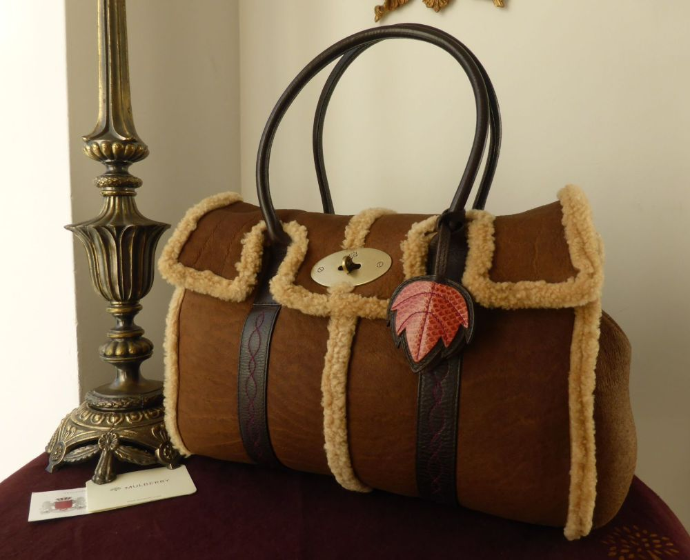 Mulberry Classic Bayswater in Chocolate Sheepskin Shearling