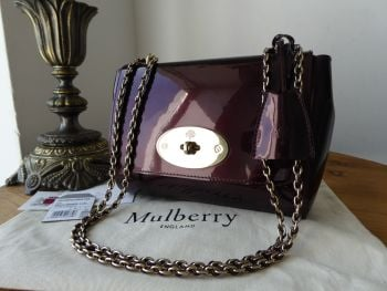 Mulberry Regular Lily in Oxblood Mirror Metallic Leather - SOLD
