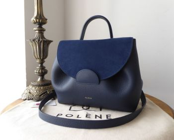 Polène Numéro Un Trio in Navy Blue Calfskin and Suede - SOLD