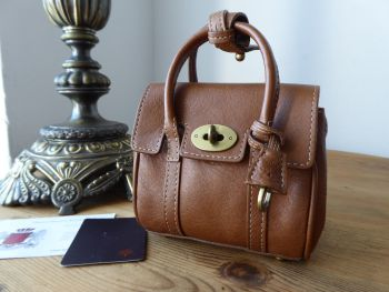 Mulberry Shrunken Micro Bayswater Oversized Charm Key Pouch in Oak - SOLD