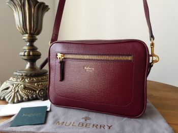 Mulberry Camera Bag in Burgundy Printed Goat  - SOLD