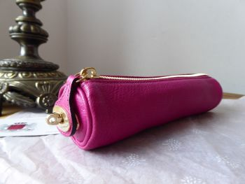 Mulberry Locked Zipped Make Up Tube Case in Mulberry Pink Glossy Goat - SOLD