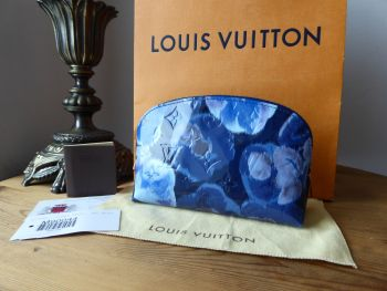 Louis Vuitton Limited Edition Ikat Cosmetic Pouch in Grand Bleu Monogram Vernis - SOLD