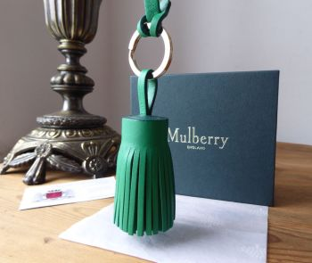Mulberry Tassle Keyring Bag Charm in Jungle Green Lamb Nappa Leather - SOLD