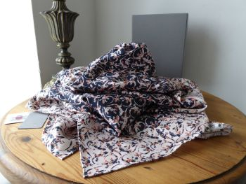Mulberry Gecko Printed Large Square Scarf Wrap in 100% Silk Light Berry Cream - SOLD