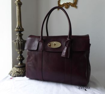 Mulberry Classic Heritage Bayswater in Oxblood Natural Coloured Leather