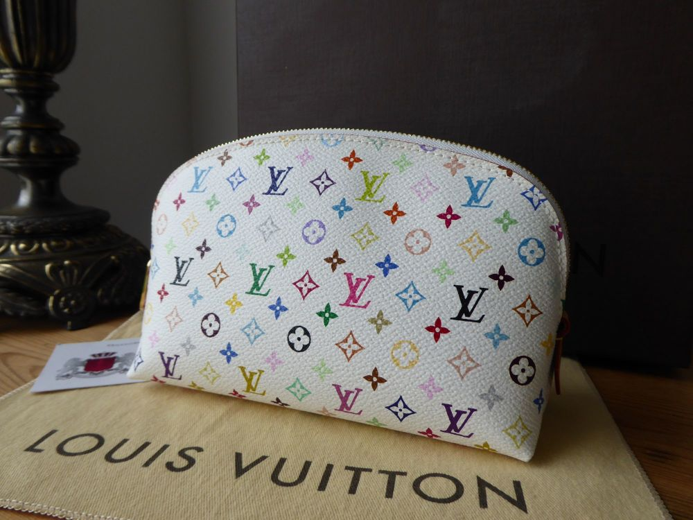 Louis Vuitton Cosmetic Pouch in Multicolore White Blanc - As New