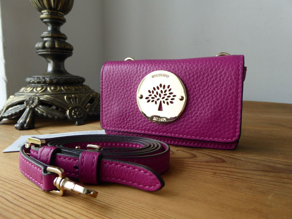 Mulberry Daria Mini Messenger in Hot Fuchsia Spongy Pebbled Leather
