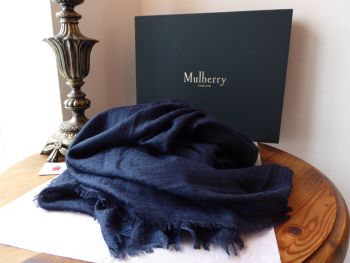 Mulberry Floral Weave Wrap in Midnight Cashmere Modal Cotton Silk Mix