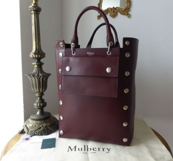Mulberry Large Studded Maple Tote in Oxblood Smooth Calf - New*