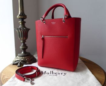 Mulberry Small Maple Tote in Fiery Red Small Classic Grain Leather - SOLD