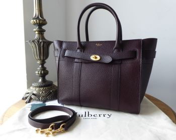 Mulberry Small Zipped Bayswater in Oxblood Grain Vegetable Tanned Leather - SOLD