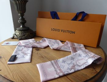 Louis Vuitton Silk Bandeau Monogram Confidential in Light Pink - SOLD