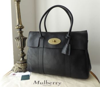 Mulberry Classic Heritage Bayswater in Black Natural Vegetable Tanned Leather - SOLD