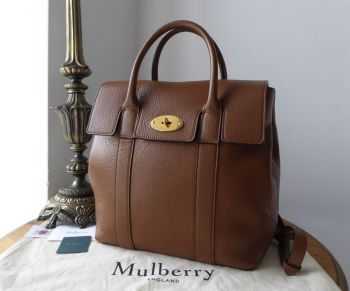 Mulberry Bayswater Backpack in Oak Small Classic Grain with Brass Hardware - SOLD