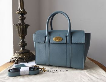 Mulberry Small Bayswater in Dark Frozen Small Classic Grain Leather - New