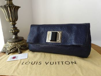 Louis Vuitton Limited Edition Altair Clutch in Monogram Jacquard Quilted Navy Calfskin - SOLD