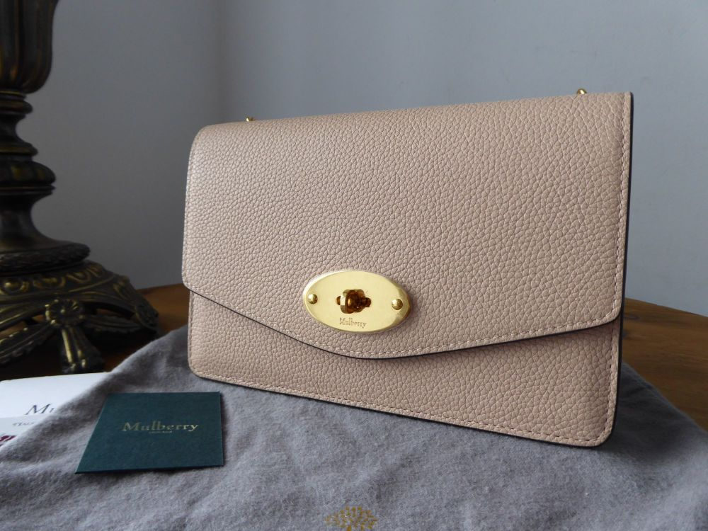 Mulberry Small Darley Shoulder Clutch in Rosewater Small Classic Grain - Ne
