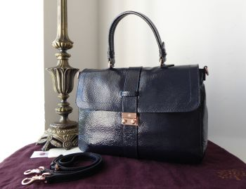 Mulberry Harriet Satchel in Nightshade Blue Spongy Patent Leather- SOLD
