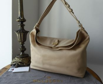 Mulberry Tessie Hobo in Buttercream Soft Small Grain Leather - As New*