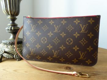 Louis Vuitton Slim Zipped Pochette Monogram Rouge from a Neverfull MM - SOLD