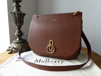 Mulberry Amberley Satchel in Oak Grained Vegetable Tanned Leather