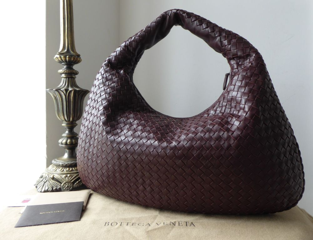 Bottega Veneta Large Veneta Hobo in Ebano Intrecciato Nappa