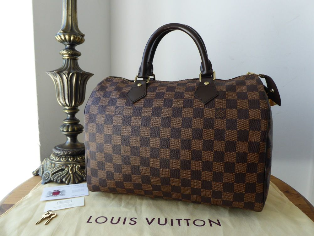 Louis Vuitton Speedy 30 in Damier Ebene