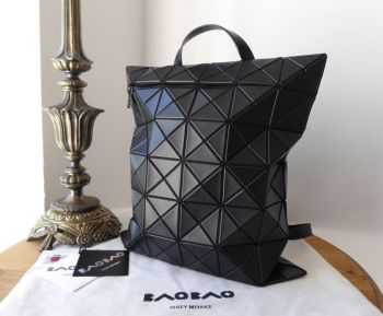 Bao Bao Issey Miyake North South Flat Pack Large Backpack in Matte Black