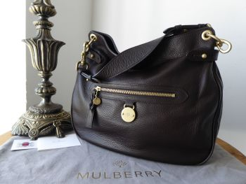 Mulberry Somerset Shoulder Hobo in Chocolate Pebbled Leather - SOLD