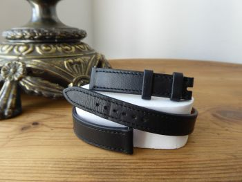 Hermès Cape Cod Double Tour Watch Strap PM in Black Calfskin